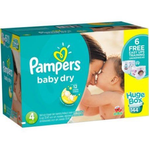 Picture of 100 Pampers Baby Diapers (Size 4 - 100)