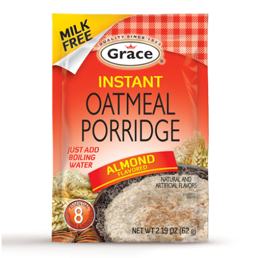 Picture of Grace Instant Oatmeal Porridge (Almond Flavoured - 62g)
