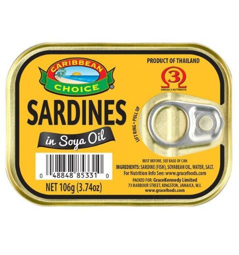 Picture of Caribbean Choice Sardines in Soya Oil (106g)