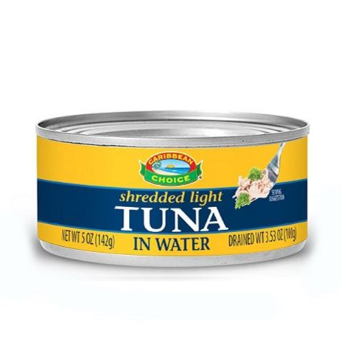 Picture of Caribbean Choice Shredded Light Tuna in Water (142g)