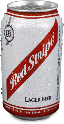 Picture of Red Stripe Lager/Beer (Can - 330 mL)