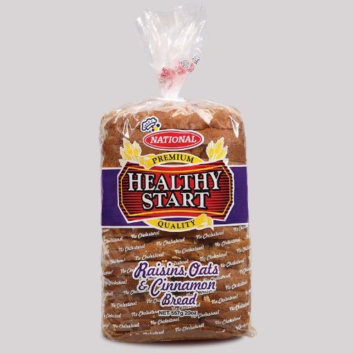Picture of National Healthy Start Sliced Bread (Raison Oats & Cinamon - 567g)
