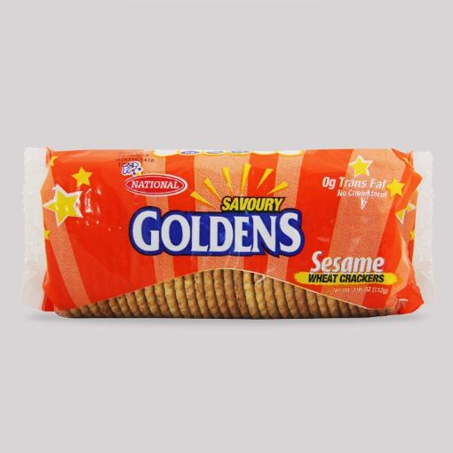 Picture of National Goldens Sesame Wheat Crackers ( Roll Pack 112g)