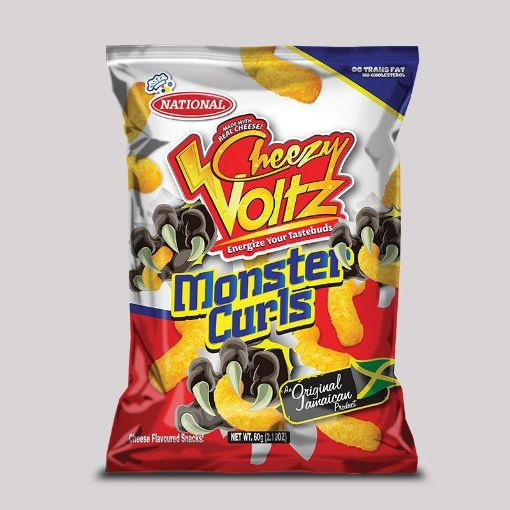 Picture of National Monster Curls (Cheesy Voltz - 60g)