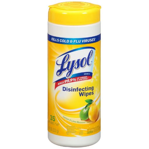 Picture of Lysol Disenfecting Lemon & Lime Cleaning Wipes  (252g)