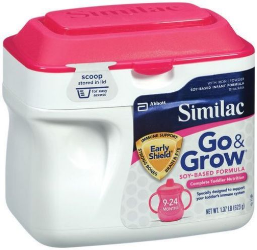 Picture of Similac Go and Grow Soy Powder Close  Milk (9 - 24 - 658g/23.3oz)