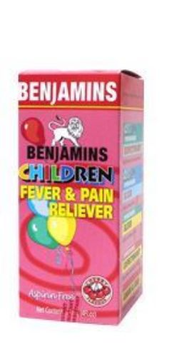 Picture of Benjamins Children Fever & Pain Reliever - Cherry Flavour  (120ml)