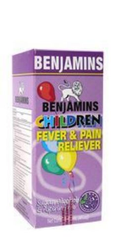 Picture of Benjamins Children Fever & Pain Reliever - Grape Flavour  (120ml)