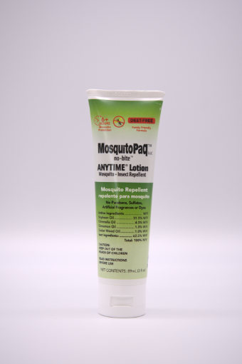 Picture of MosquitoPaQ™ no-bite™ ANYTIME Lotion (Tube -59 ml /20z)