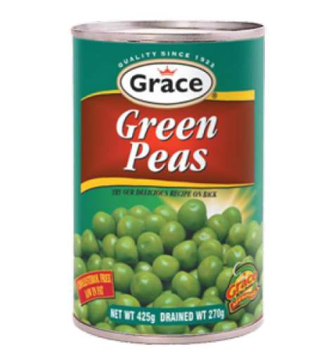 Picture of Grace Green Peas 6pk (425g eack can)