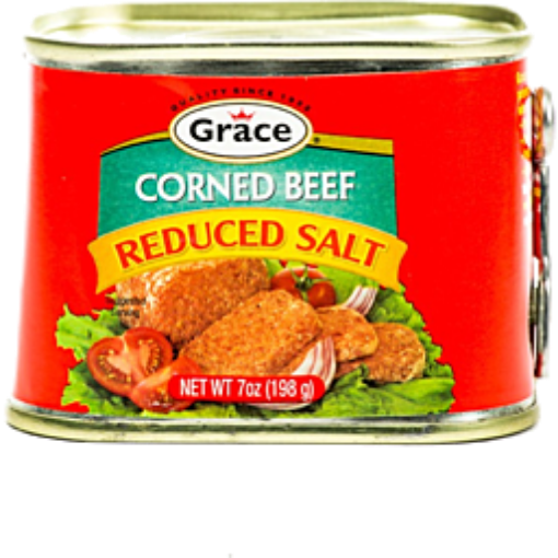 Picture of Grace Corned Beef Reduced Salt - 198g/7oz