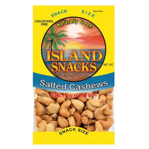Picture of Island Snacks Salted Cashews (2.25oz/ 63.78g)