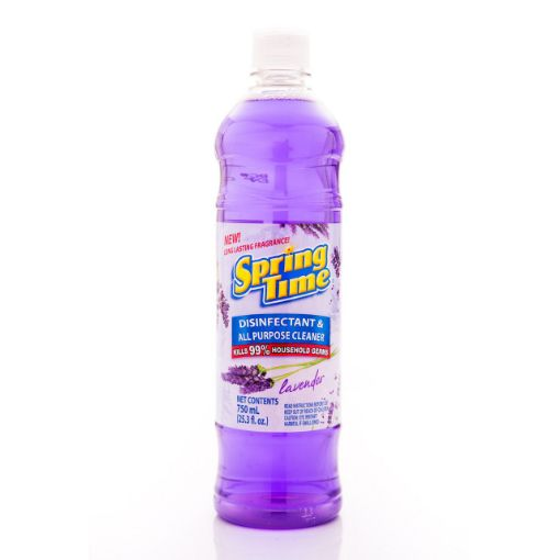 Picture of Spring Time Disinfectant & All Purpose Cleaner (Kills 99%) - Lavender - 750ml/25.3 fl oz