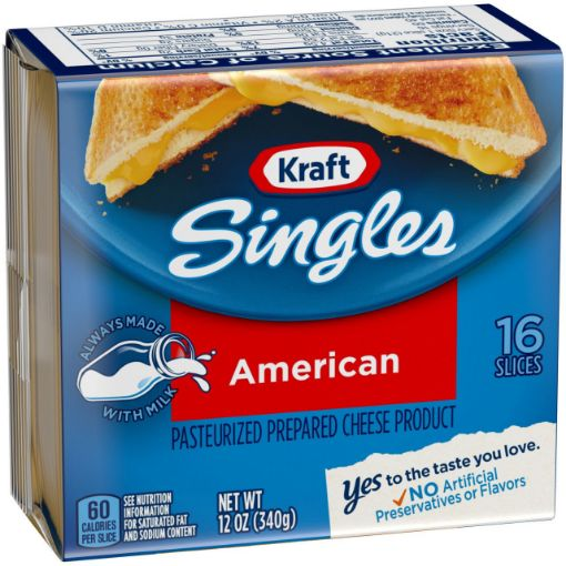 Picture of Kraft American Singles Cheese (16 Slices) - 12 oz/340 g